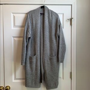 Heather gray duster cardigan
